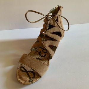 Brand New Sam Eldeman Lace Up Sandals